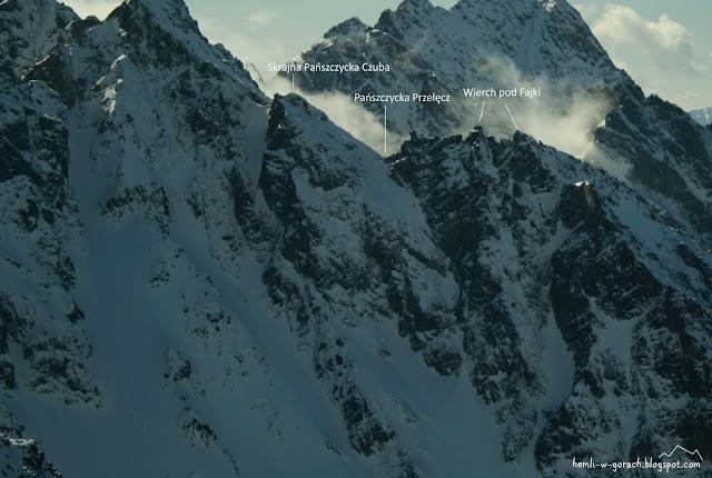 Widok na Pańszczycką Przełęcz