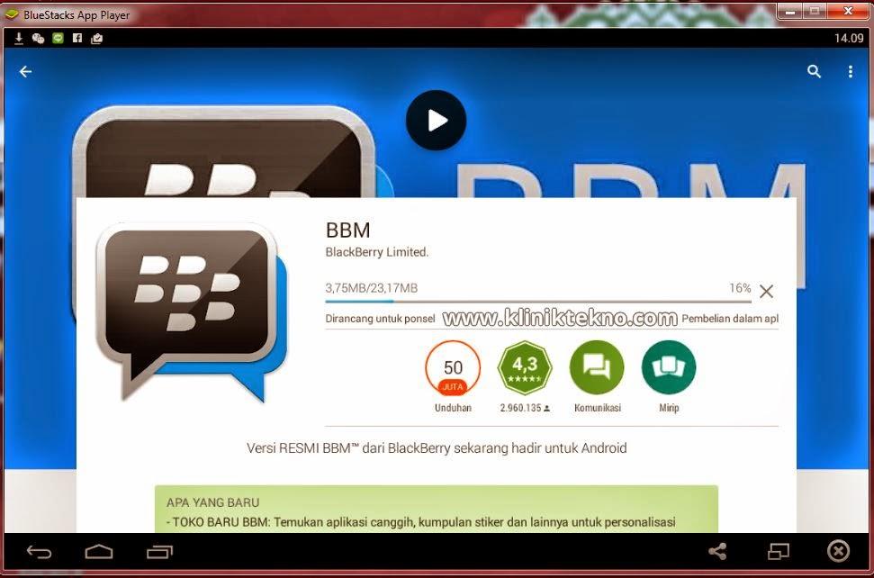 Cara Terbaru Instal Aplikasi BBM Android Di PC Atau Komputer dengan mudah dan simple