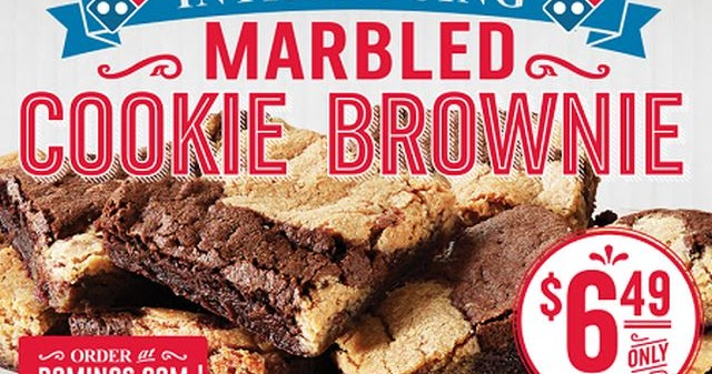 Domino's Offers New Marbled Cookie Brownies