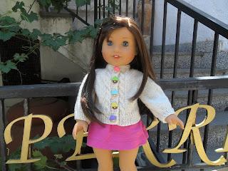 "18"" doll Sera Cardigan"