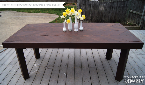 Wouldnt it be Lovely DIY Chevron Patio Table