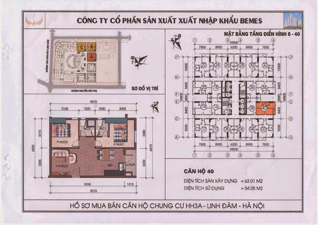Căn hộ 40 - Chung Cư HH3A Linh Đàm