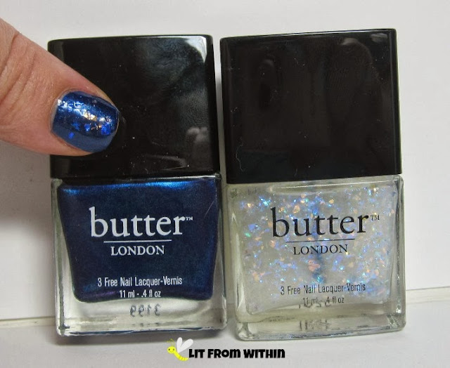 bottle shot:  Butter London Bluecoat and Leccy