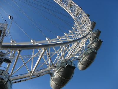 London Eye in West-end England