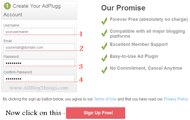 creating an account on adplugg