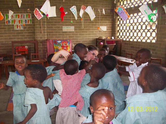 I bambini della scuola elementare di Atchanvé nella Missione togolese