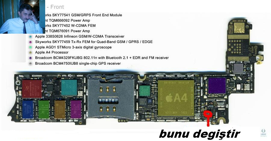Iphone 5s схема платы с компонентами