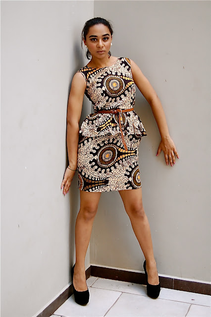 Kiki S Fashion Peplum Kitenge Dress Designed By Kiki