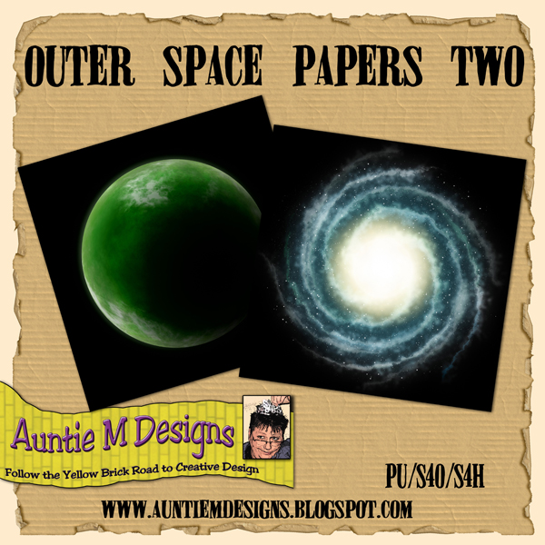 Auntie m designs outer space papers set two for Outer space design richmond