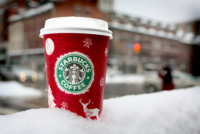 Starbucks Christmas coffee