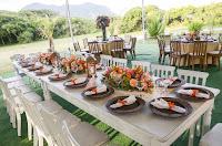 Arranjo mesa da familia noivos!