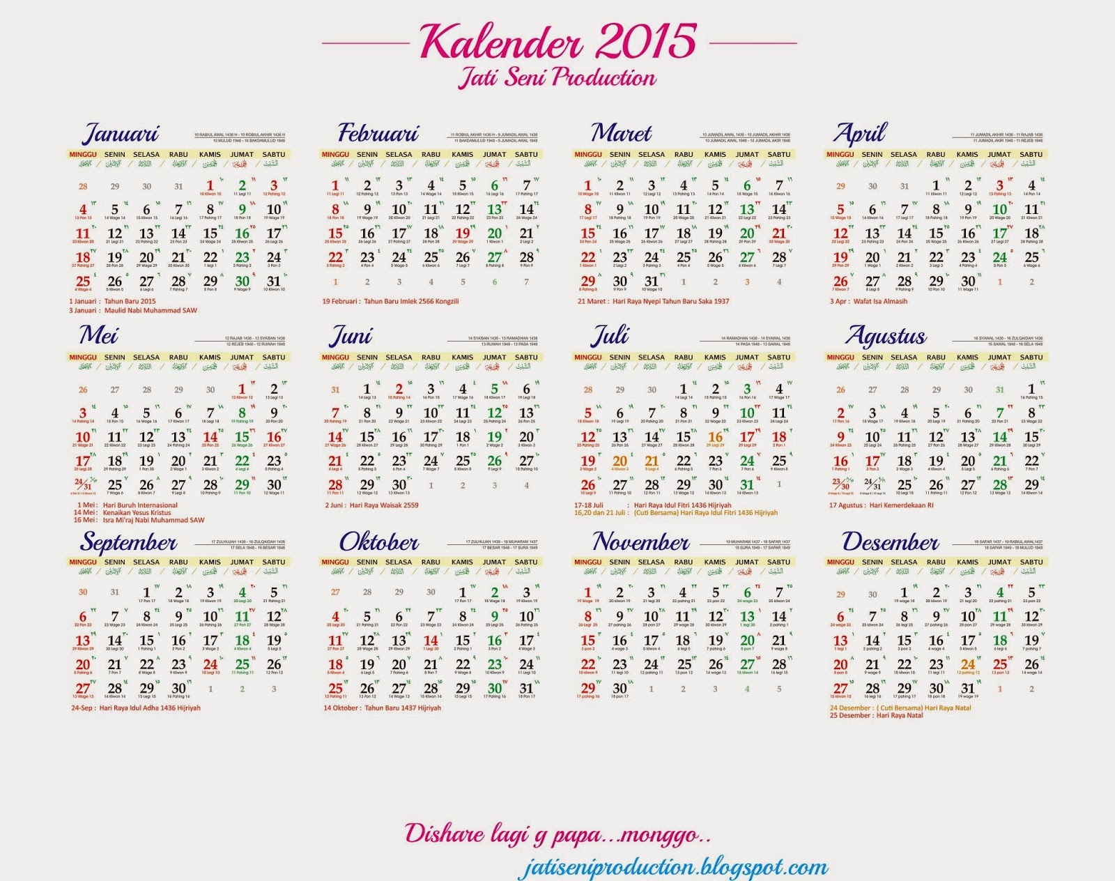 Kalender 2015 Lengkap Related Keywords & Suggestions - Kalender 2015 ...