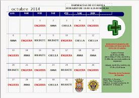 FARMACIAS DE GUARDIA OCTUBRE 2014