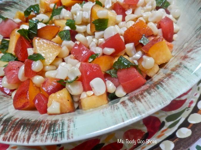 Corn and Peach Salad