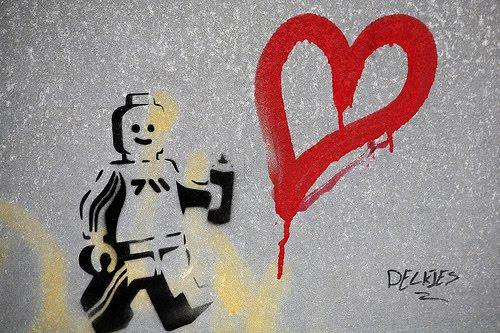 Graffiti Wallpapers Banksy Graffiti Love By Delkjes