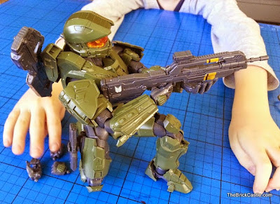 Halo Mastrer Chief Bandai SpruKit poseable model review