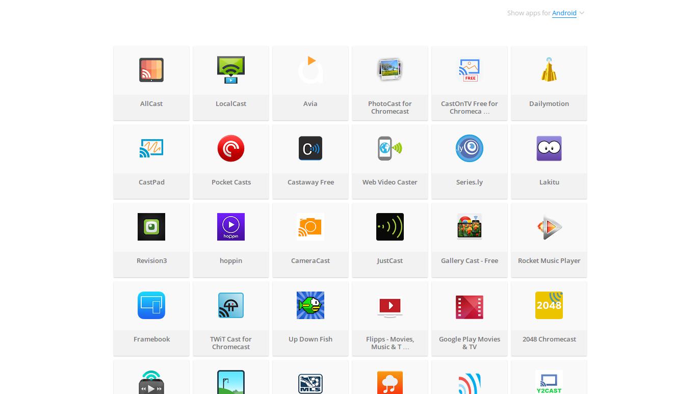 Apps para chromecast