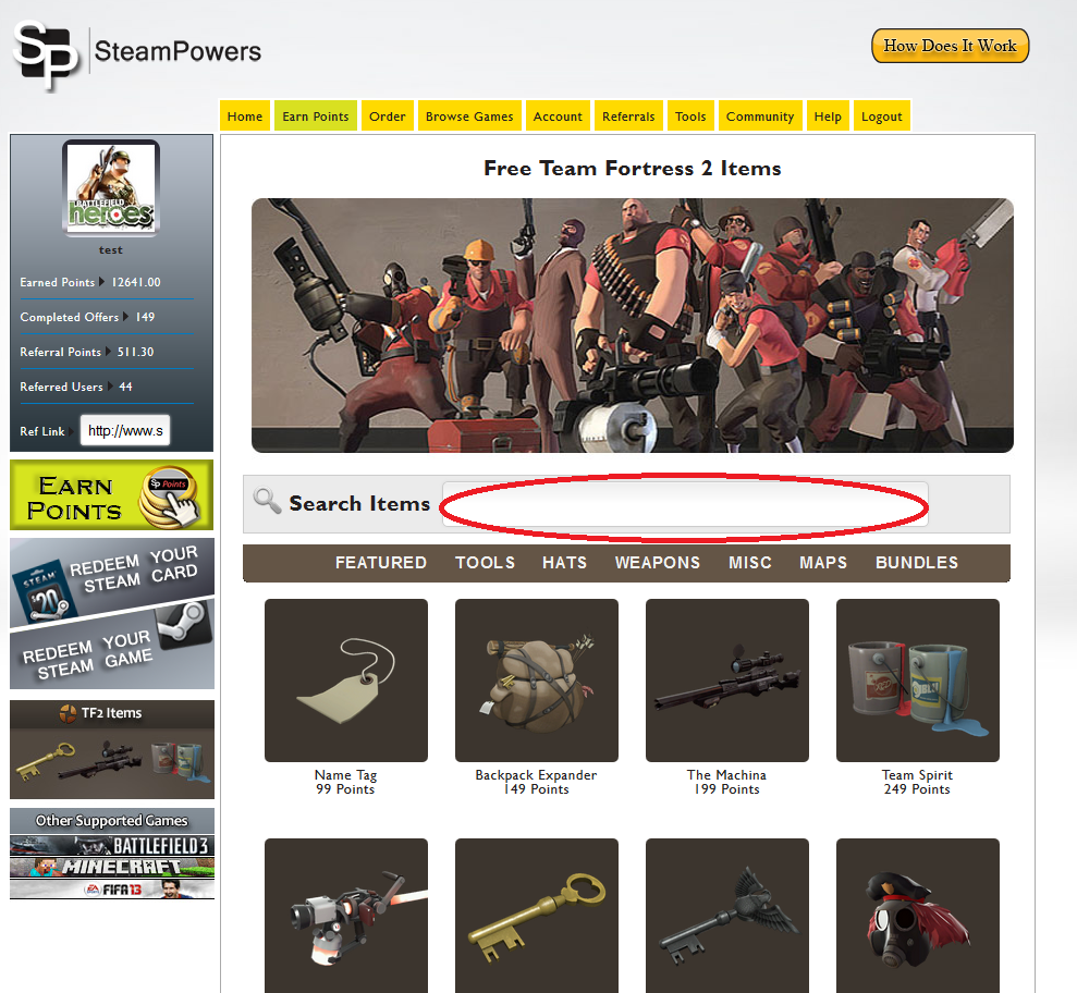 Free Team Fortress 2 Items : Free Teamfortress 2 Tutorials ...