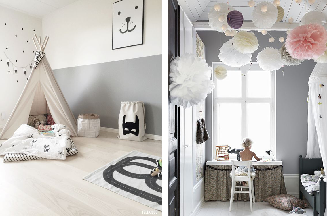 La fabrique d co chambre d 39 enfant color e ou neutre for Decoration chambre gris et blanc