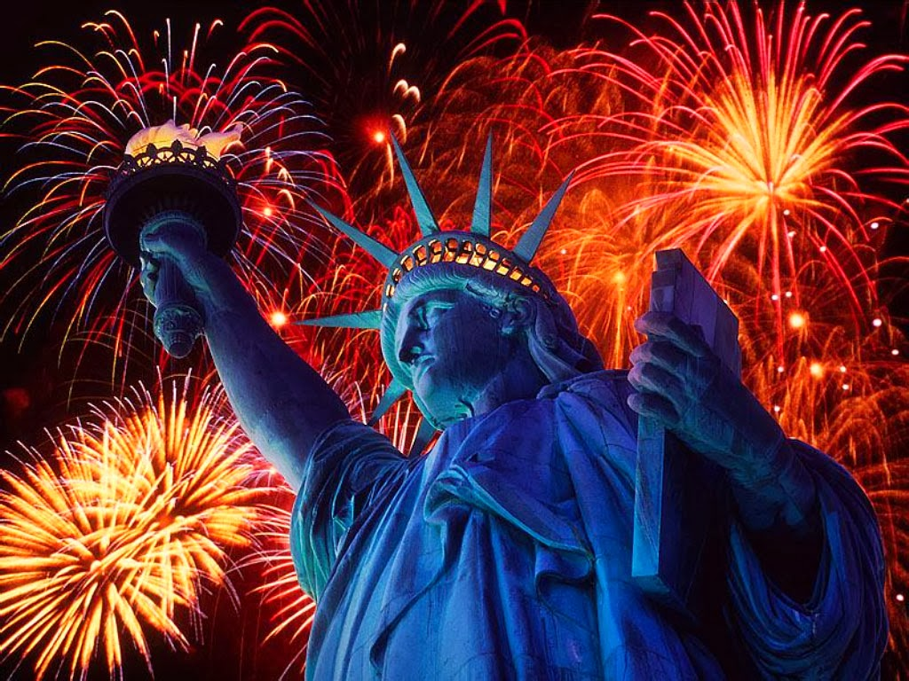 World Visits Statue Of Liberty Firework New Year