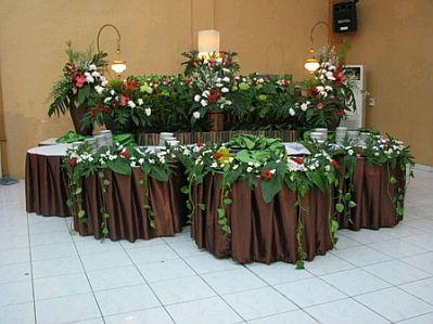 decoracion de mesas para buffet centros y arreglos florales parte