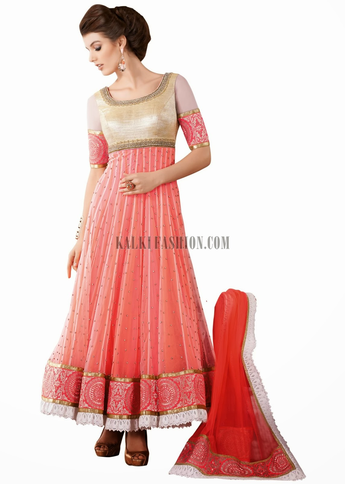 Floor length designer wedding anarkali dresses collection for Floor length gowns