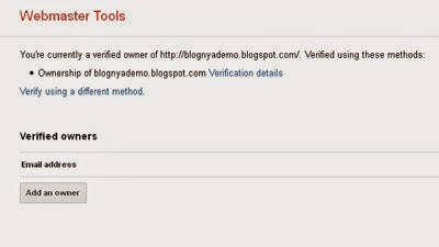 Memverifikasi Kepemilikan Situs Ke Google Webmaster Tools