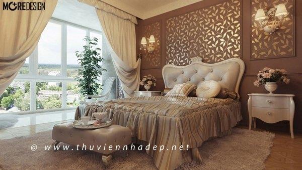 Phòng ngủ sang trọng phong cách châu âu