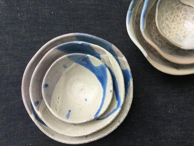 藁灰釉のマトリョーシカ鉢