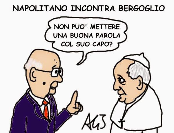 Napolitano, papa francesco