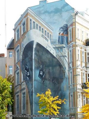 Berlin, graffiti, streetart, art, gebäude, murals, Gert Neuhaus