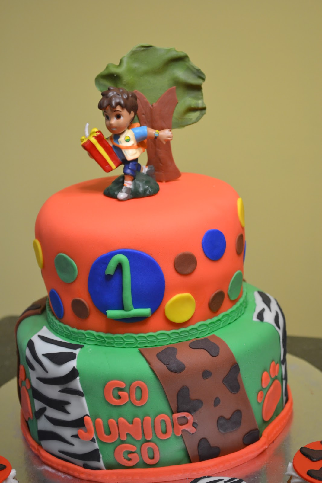 Cakes By Lala Go Diego Go First Birthday Cake - Go diego go birthday cake
