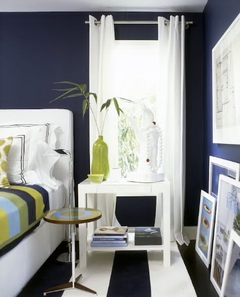 Bedroom With Green Accent Wall Bedroom Sets Blue Bedroom Sets For Small Rooms Bedroom Furniture Color: Dormitorios En Azul Oscuro