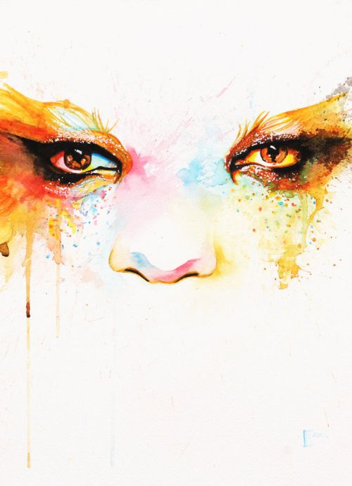 innes mcdougall pinturas aquarelas mulheres olhos lábios