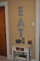 wood letters, spray paint, kitchen decor, decor, DIY