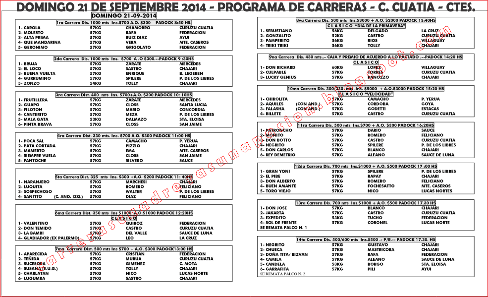 C. CUATIA - PROGRAMA - 21.09.2014