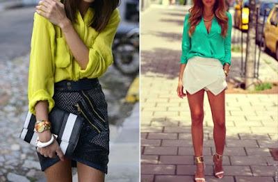 short saia com camisa