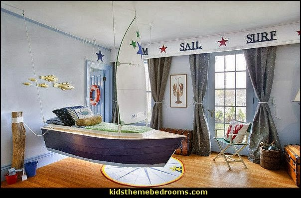 Nautical Bedroom Ideas   Decorating Nautical Style Bedrooms   Nautical Decor    Sailing Ship Theme