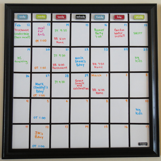 Diy Calendar Board : Whiteboard calendar new template site