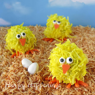 Easter Chick Cakeballs