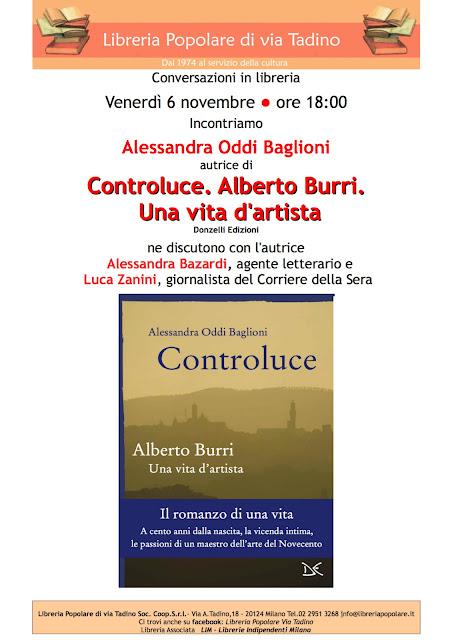 """Presentazione libro """"Controluce Alberto Burri una vita d'artista"""" 6-11-2015"""