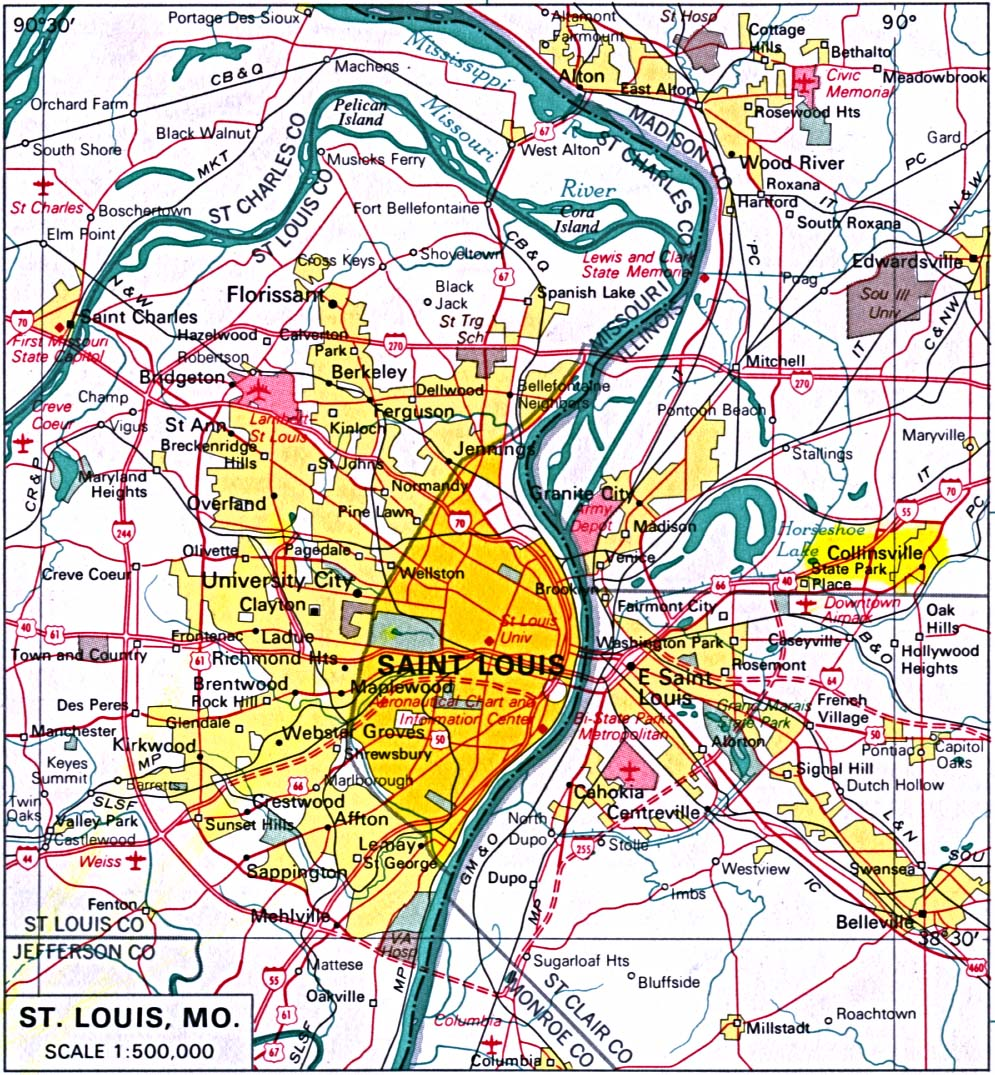 St Louis Map Map Of St Louis St Louis Missouri Map Map Usa - St louis mo on us map