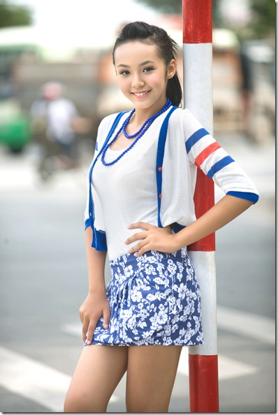 12-year-old Vietnamese girl model Hoang Bao Tran Le