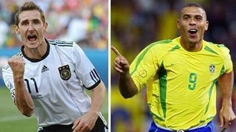 شاهد كل أهداف رونالدو وكلوزة فى كأس العالم