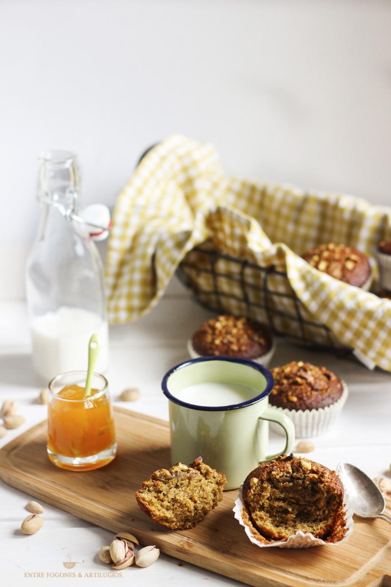 Magdalenas de quinoa y pistacho sin gluten