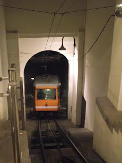 Funicular Bérgamo Cittá alta.