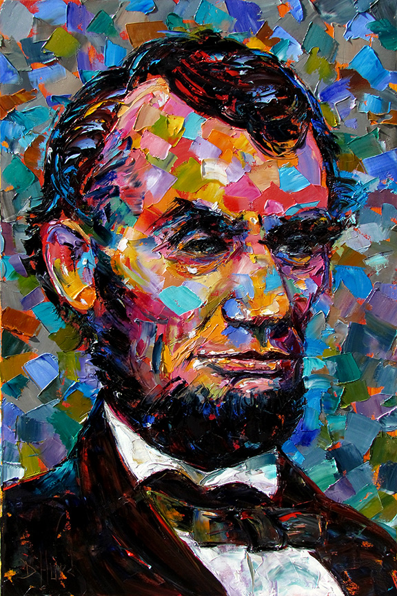 daily painters abstract gallery oil abstract portrait painting