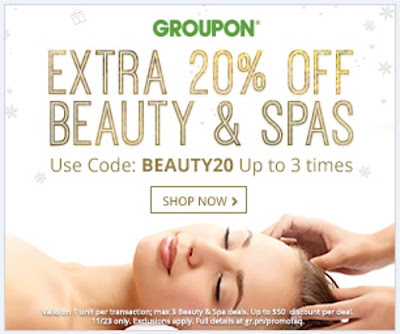 Groupon 20% Off Beauty & Spa Promo Code