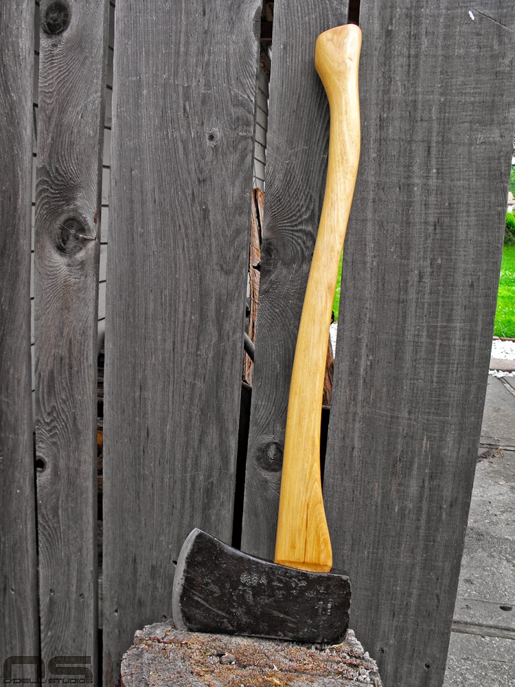 rehanging and old axe