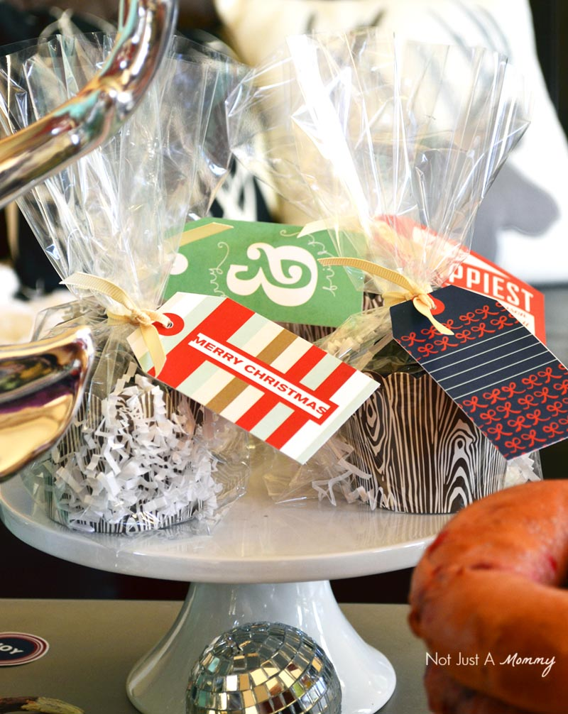 Bagels + Bloody Marys Christmas Brunch candy favors